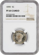 1890 5c NGC PR 64 CAM - Liberty V Nickel - $426.80
