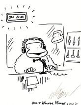Radio Ape Goes on the Air. Original Signed Cartoon by Walter Moore - $9.44