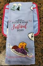 2020 EPCOT Food & Wine Festival Disney Minnie Queen Of Cuisine Towel & P... - $29.69