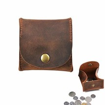 Jurxy Rustic Leather Moon Pocket Coin Case Genuine Leather Squeeze Coin ... - $22.01