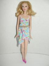 Fair Skin Barbie doll Unique stern face no smile Blonde hair model - $12.99