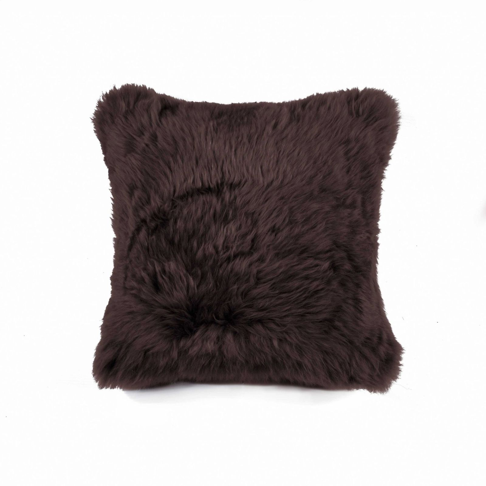 "HomeRoots Kitchen 18"" x 18"" x 5"" Chocolate Sheepskin Throw Pillow - $64.05"