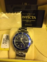 Invicta Men's Pro Diver Automatic 200m Blue Dial Stainless Steel Watch 9094OB - $178.20