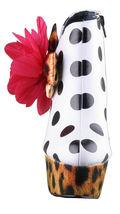 Iron Fist White Black Polkadot Leopard Lolita Love High Heels Platform Shoes NIB image 5