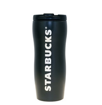 Starbucks Lucy Black Logo Curvy Stainless Steel Tumbler 12 OZ Vacuum Thermos Cup - $87.31