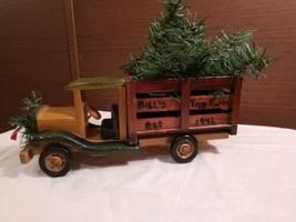 Vintage Wooden Christmas Tree Truck Decor - $14.84