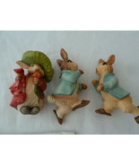 Anri Italy Beatrix Potter PETER RABBIT & Benjamin Bunny Christmas Ornaments - $50.48