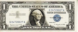 SERIES 1957  A  ONE DOLLAR SILVER CERTIFICATE==\CIRCULATED CONDITION - $1.86