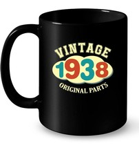 Vintage 1938  80 Years Old 80th Birthday Gift Ceramic Mug - $13.99+