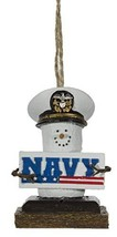 S'mores Military Christmas/Everyday Ornament - Navy - $10.84