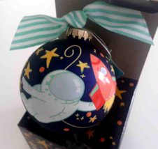 """Coton Colors 4"""" Glass Ball Ornament You're Out Of This World Spaceship A... - $14.84"""