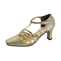 FLORAL Aya Women Wide Width Closed Toe T-Strap Pumps With Rhinestones - $39.95