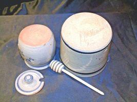 Daviess County Westerwald Stoneware Honey Pot Lid Stir Stick & Bowl with handle image 7
