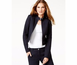 MICHAEL KORS Cropped Moto Jacket Size 14 MSRP: $175 - $121.54