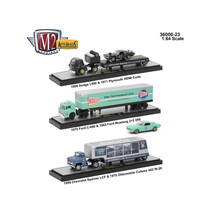 Auto Haulers Release 23, 3 Trucks Set 1/64 Diecast Models by M2 Machines... - $84.57
