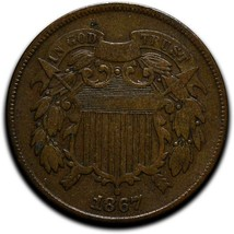 1867 Two 2 Cents Coin Lot# A 544