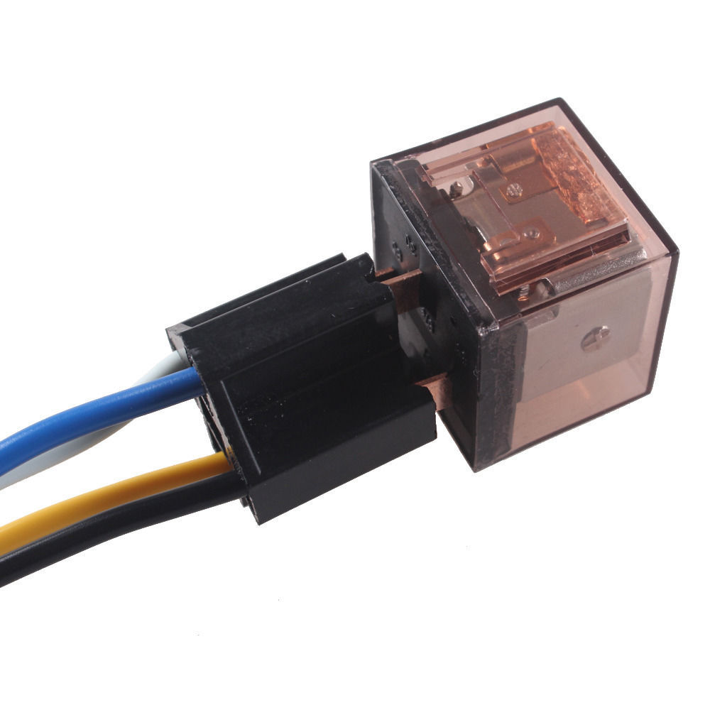 DC Car Vehicle 12V Volt 60A AMP Transparent Relay /& Socket SPDT 5Pin Sales