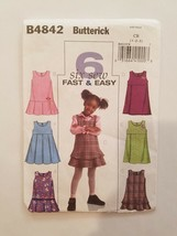 Sewing Pattern Baby Girls Toddlers Clothing Sizes 1-2-3 Butterick Brand ... - $7.70