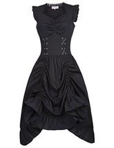 Belle Poque Women Gothic Victorian Pirate Dress Sleeveless for Wedding B... - $51.32