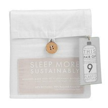 Bedding recycled sustainable eco friendly sheets pillowcases - $16.77