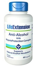 4 PACK Life Extension Anti-Alcohol with HepatoProtection Complex liver - $48.99