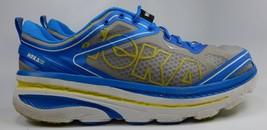 Hoka One One Bondi 3 Men's Running Shoes Size US 12.5 M (D) EU 47 1/3 Gray Blue