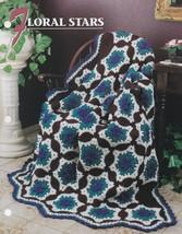Floral Stars, Annie's Attic Crochet Quilt & Afghan Pattern Leaflet QAC37... - $8.95