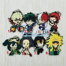 My Hero Academia Boku no Hero Akademia Rubber Strap Keychain Charm LS - $4.84+