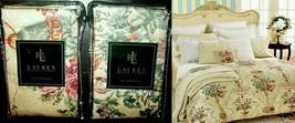Ralph Lauren Villandry Floral 2 Standard Pillow Shams 450TC Italy NWT $220 - $108.89