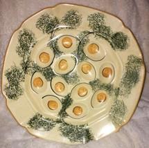 """Vintage 1970s Designcraft Ceramic Deviled Egg Plate 11 1/2"""" X 11 1/2"""" US... - £13.17 GBP"""