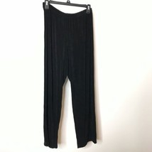 Alfred Dunner Pants Womens Size PM Black Slinky Elastic Waistband Inseam... - $24.75