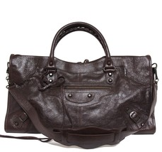 New $2095 Balenciaga Part Time Arena Classic Cigare Leather Bag - $1,664.04
