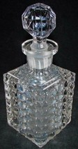 Antique Thousand Eye Optic Glass Square Decanter - Ground Stopper, Ponti... - $74.25