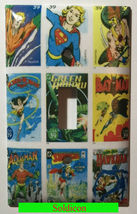 DC Superhero Comics USPS Stamps Light Switch Power wall Cover Plate Home decor image 1