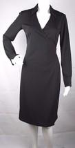 Express women's dress  black collar long sleeve midi length wrap size 3/4 - $18.40