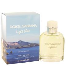 Light Blue Discover Vulcano by Dolce & Gabbana Eau De Toilette  4.2 oz, Men - $54.50