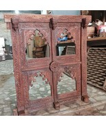 Vintage Indian Jharokha, Handcarved Wooden Wall Mirror Jharokha, Indian ... - $1,599.00+