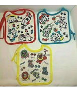 3 Playskool Vintage Bibs Cats Dogs Lions Tigers Bright Soft Fabric Front... - $25.69