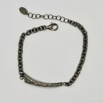 Silver 925 Bracelet Burnished Black Mens Rolo, by Maria Ielpo Made in Italy image 2