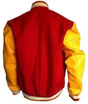 M Logo Letterman Michael Thriller Red & Yellow Jackson Bomber Varsity Jacket image 4
