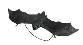 Bat Prop Black Hanging 15 Inches Realistic Haunted House Halloween FM64410 - £22.72 GBP