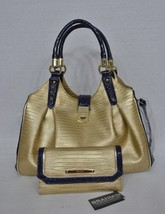 SET of Brahmin Elisa Satchel/Shoulder Bag & Checkbook Wallet Pharoah Tri... - $499.00