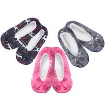 Women's Fuzzy Warm Cozy Feet Slippers Non-Slip Lined-Sherpa Plush Fleece... - $11.63