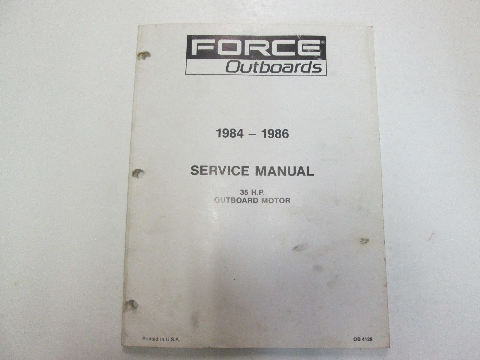 1984 1985 1986 Force Outboards 35 HP Outboard Motors Service Manual STAIN WORN**