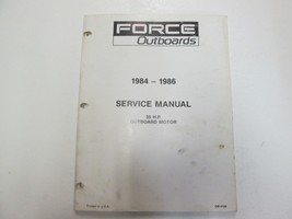 1984 1985 1986 Force Outboards 35 HP Outboard Motors Service Manual STAIN WORN** image 1
