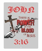 Christian Lord GOD Cross Power In The Blood Jesus Christ Yeshua Wall Sig... - £19.72 GBP