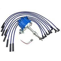 BIG BOCK FORD BBF 351C 351M 429 460 BLUE HEI Distributor + 8mm SPARK PLUG WIRES