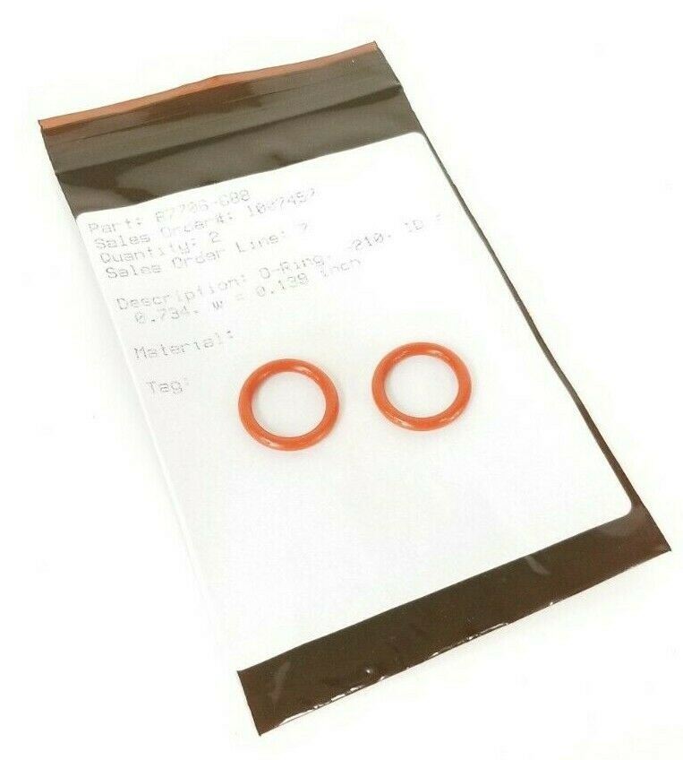 LOT OF 2 NEW BAUMANN 87706-688 O-RINGS -210 ID=0.734 W=0.139 IN. 87706688