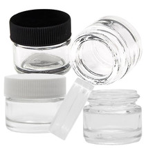 250x 5ml Glass Concentrate Containers Air Tight Medical Jars w/ Cap Lid - $74.99