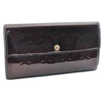 LOUIS VUITTON Vernis Portefeuille Sarah Amarant Long Wallet M93524 LV Au... - $150.00